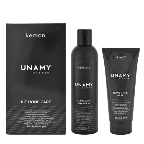 Kemon Unamy System Kit Home Care Shampoo 250ml + Mask 200ml - shampoo e maschera anticrespo lisciante
