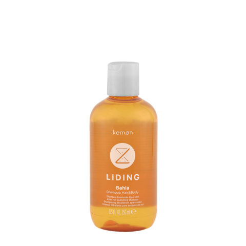 Kemon Liding Bahia Shampoo Idratante Dposole per Corpo e Capelli 250ml