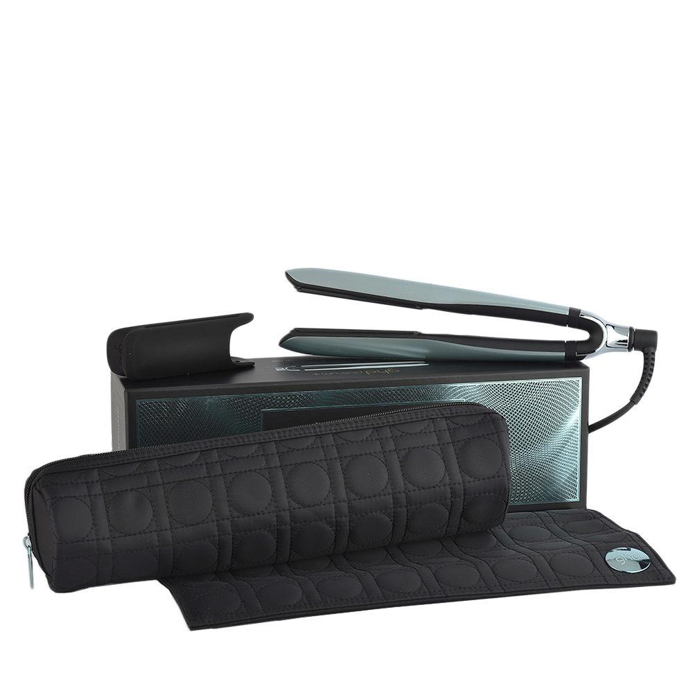 GHD Platinum + Styler Glacial Blue Collect. with Heat-resistant Bag - piastra con astuccio termoresistente