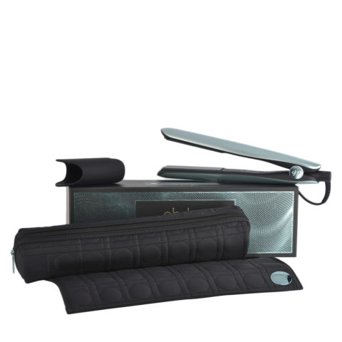 GHD Gold Professional Styler Glacial Blue Collect. with Heat-resistant Bag - piastra con astuccio termoresistente