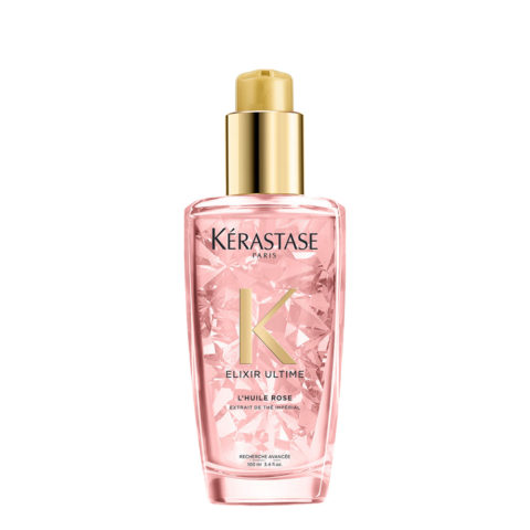 Kerastase Elixir Ultime L'Huile Rose 100ml - Olio per Capelli Colorati
