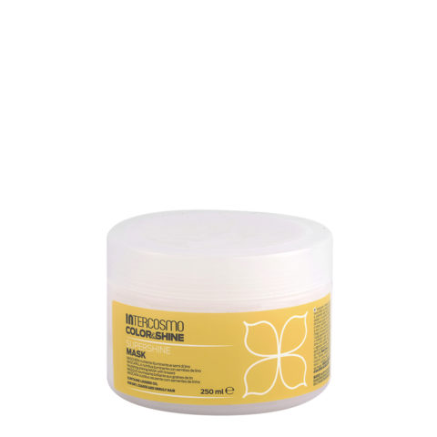 Intercosmo Color & Shine Supershine Mask 250ml - maschera nutriente illuminante ai semi di lino