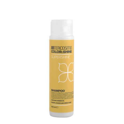 Intercosmo Color & Shine Supershine Shampoo 300ml - nutriente illuminante ai semi di lino