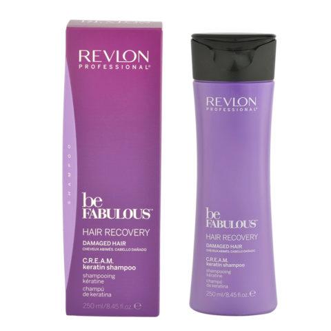 Revlon Be Fabulous Hair Recovery Cream Keratin Shampoo 250ml - shampoo ristrutturante