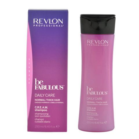 Revlon Be Fabulous Daily care Normal / thick hair Cream Shampoo 250ml - shampoo rigenerante capelli medio grossi