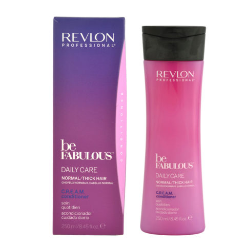 Revlon Be Fabulous Daily care Normal / thick hair Cream Conditioner 250ml -  balsamo rigenerante capelli medio grossi
