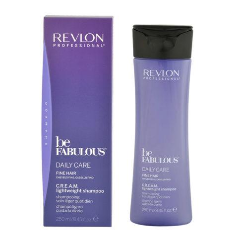 Revlon Be Fabulous Daily care Fine hair Cream Lightweight shampoo 250ml - shampoo leggero capelli fini