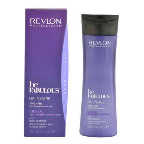 Revlon Be Fabulous Daily care Fine hair Cream Lightweight conditioner 250ml - balsamo leggero capelli fini