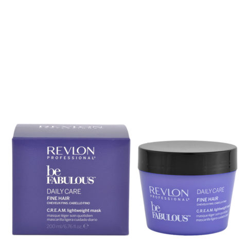 Revlon Be Fabulous Daily care Fine hair Cream Lightweight mask 200ml - maschera leggera capelli fini