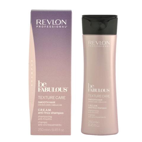 Revlon Be Fabulous Smooth hair Cream Anti-frizz Shampoo 250ml - shampoo anticrespo capelli lisci
