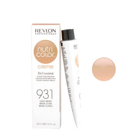 Revlon Nutri Color Creme 931 Beige chiaro 100ml - maschera colore