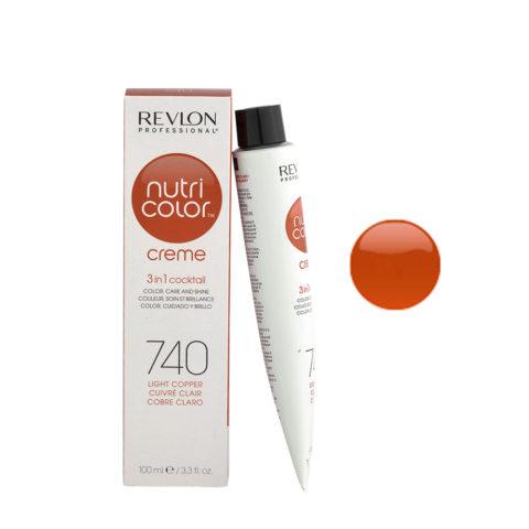 Revlon Nutri Color Creme 740 Rame chiaro 100ml - maschera colore