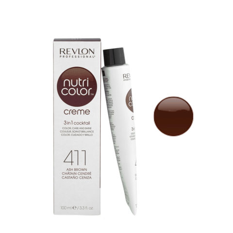Revlon Nutri Color Creme 411 Castano cenere 100ml - maschera colore