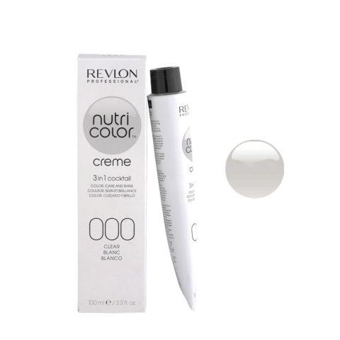 Revlon Nutri Color Creme 000 Clear / neutro 100ml - maschera colore