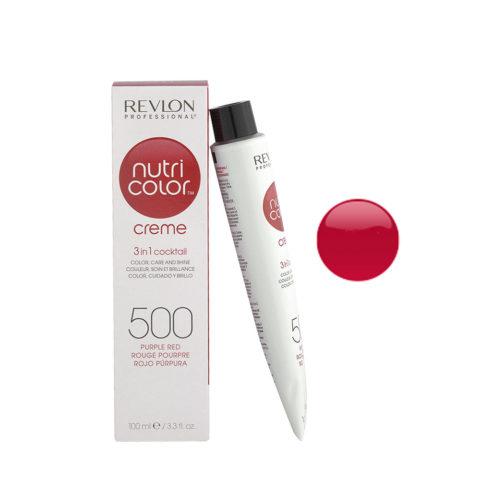 Revlon Nutri Color Creme 500 Rosso porpora 100ml - maschera colore