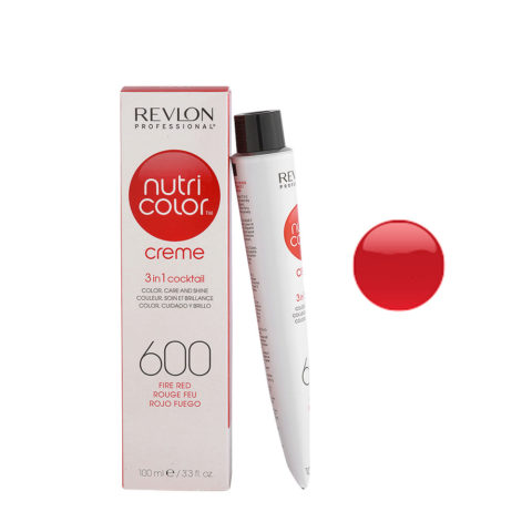 Revlon Nutri Color Creme 600 Rosso fuoco 100ml - maschera colore
