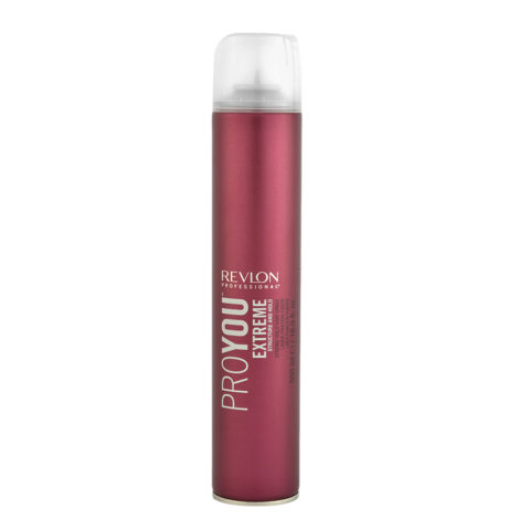 Revlon Pro You Extreme Structure and hold Strong hold Hair Spray 500ml - lacca forte