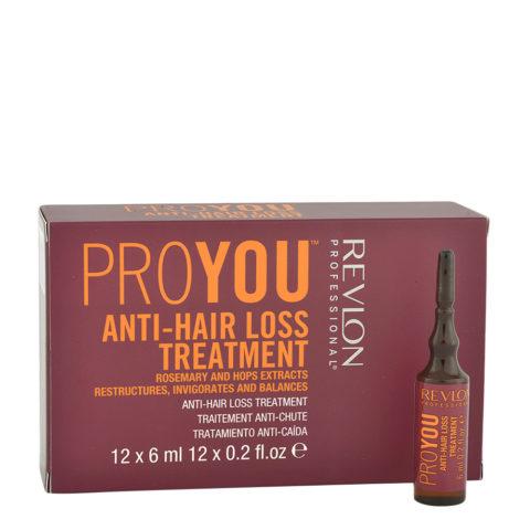 Revlon Pro You Anti-Hair Loss Treatment 12x6ml - fiale anticaduta