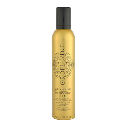 Orofluido Curly Mousse Strong Hold 300ml - schiuma tenuta forte
