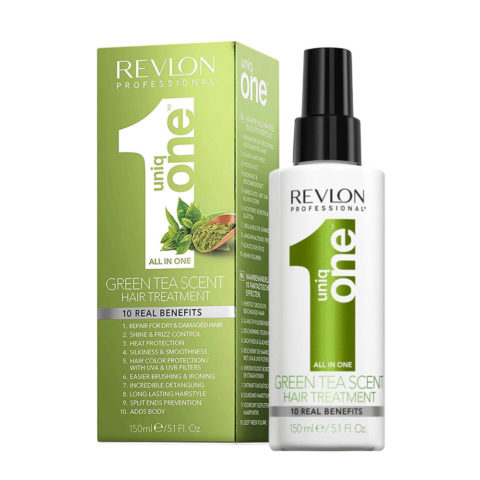 Uniq one All in one hair treatment Spray Green tea 150ml - spray 10 in 1 Tè verde