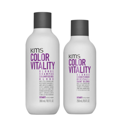 KMS Color Vitality Blonde Shampoo 300ml Conditioner 250ml - shampoo e balsamo Antigiallo