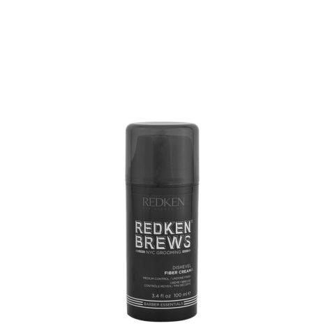Redken Brews Man Dishevel Fiber Cream 100ml - Cera / Crema Uomo Tenuta Media