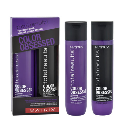 Matrix Total Results Color obsessed Kit Shampoo 300ml Conditioner 300ml - Shampoo E Balsamo Capelli Colorati