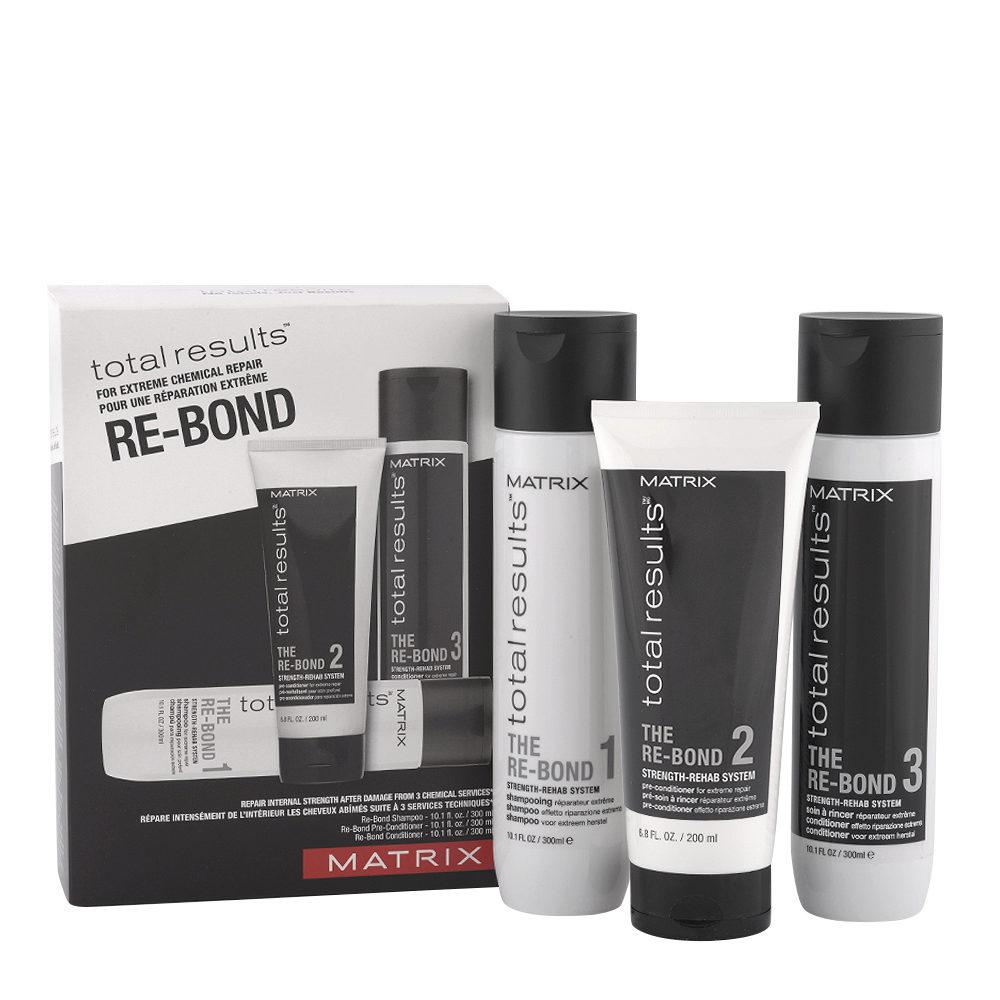Matrix Total Results Re - Bond Kit completo per capelli rovinati colorati trattati