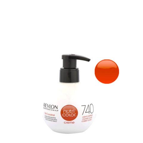 Revlon Nutri Color Creme 740 Rame chiaro 270ml - maschera colore