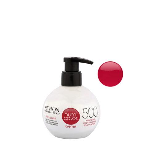 Revlon Nutri Color Creme 500 Rosso porpora 270ml - maschera colore