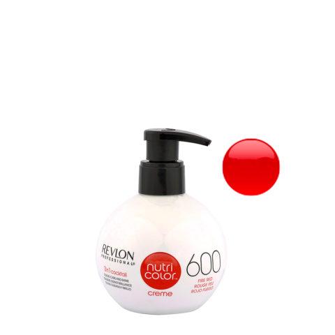 Revlon Nutri Color Creme 600 Rosso fuoco 270ml - maschera colore