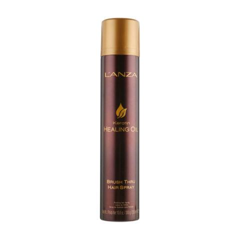 L' Anza Healing Oil Brush Thru Hairspray 350ml - lacca tenuta leggera