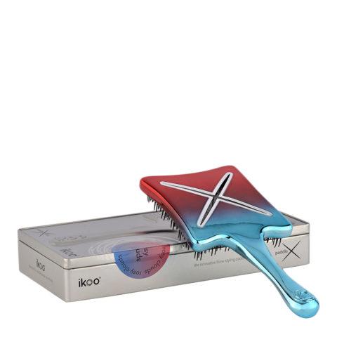 Ikoo Paddle X Metallic Rosy clouds - spazzola piatta