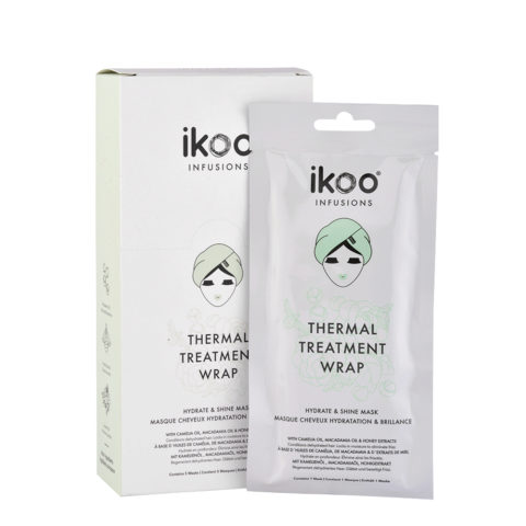Ikoo Infusions Thermal treatment wrap Hydrate & shine mask 5x35g - maschera idratazione e brillantezza