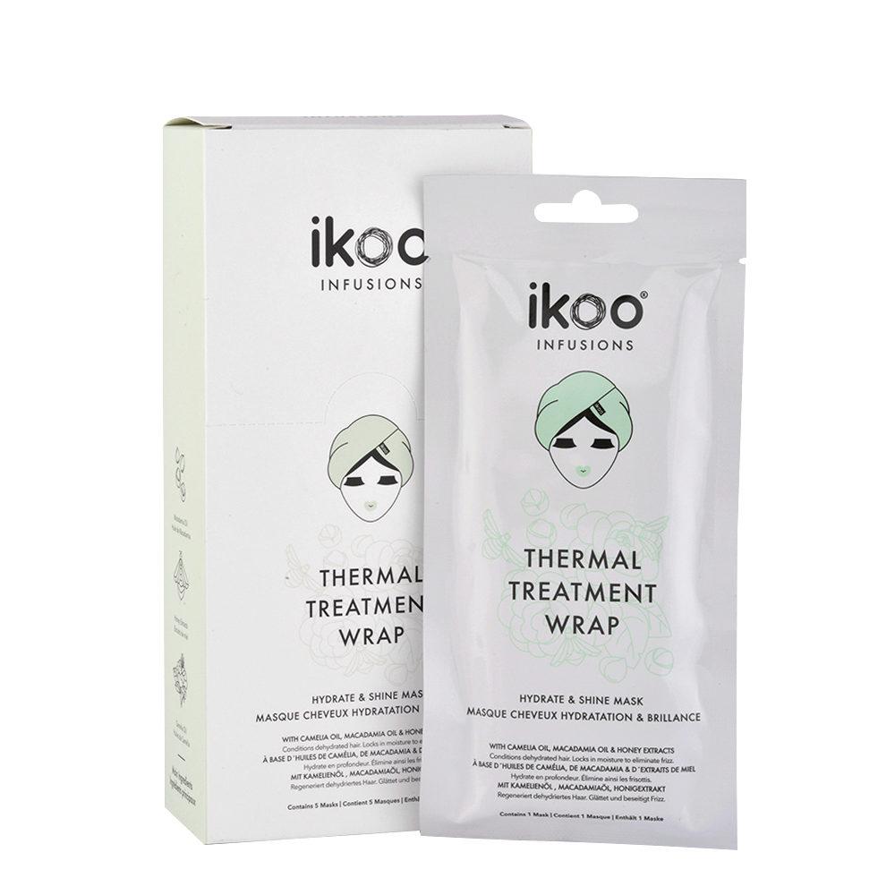 Ikoo Thermal treatment wrap Hydrate & shine mask 5x35g - Maschere in tessuto Idratanti