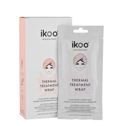 Ikoo Thermal treatment wrap Color protect & repair 5x35g - Maschere in tessuto Ristrutturanti