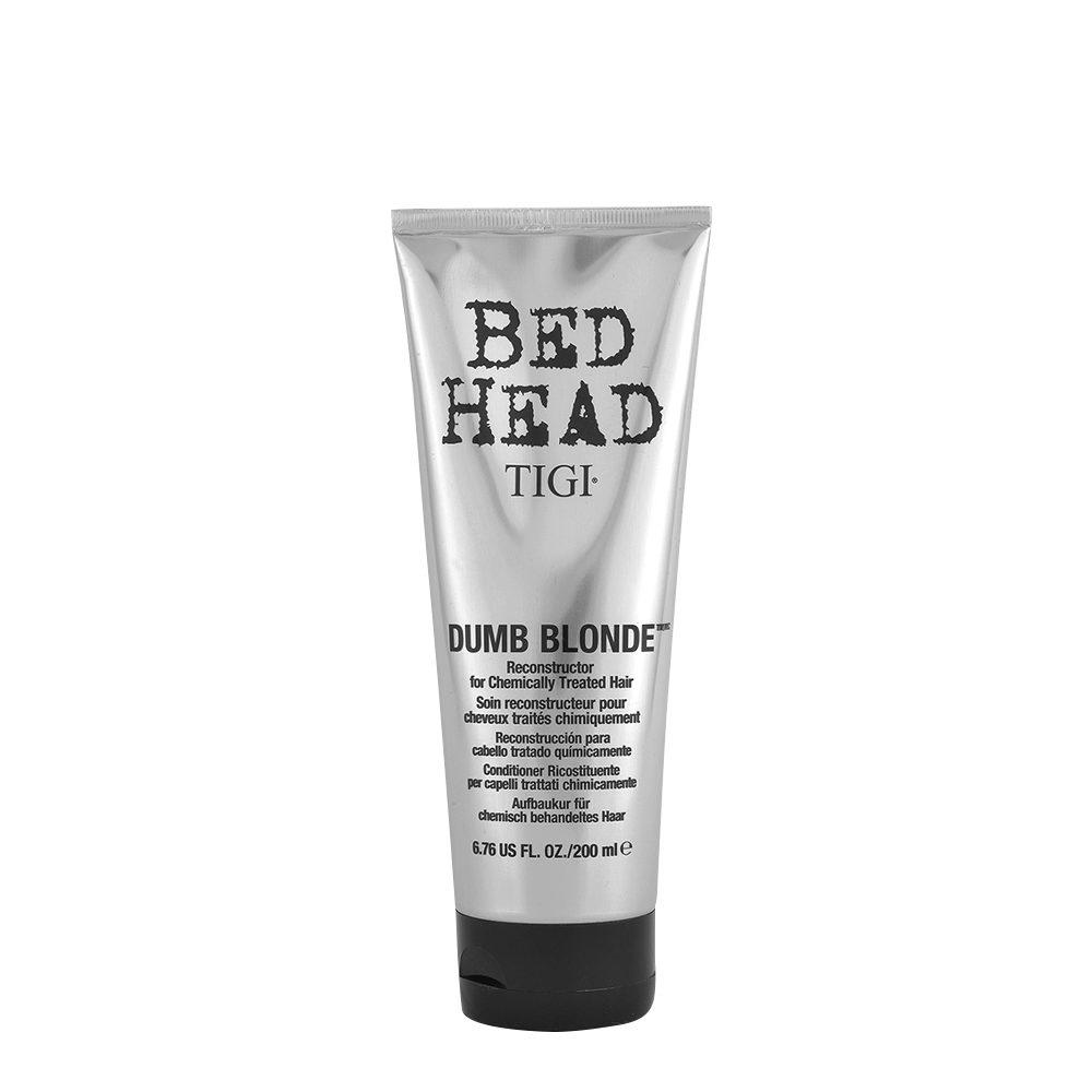 Tigi Bed Head Dumb Blonde Reconstructor 200ml - balsamo riparatore capelli trattati biondi