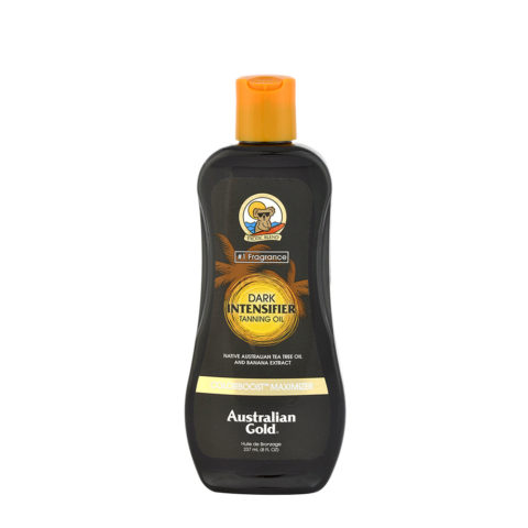 Australian Gold Linea Outdoor Dark Tanning Oil Intensificatore con Natural Bronzer 237ml