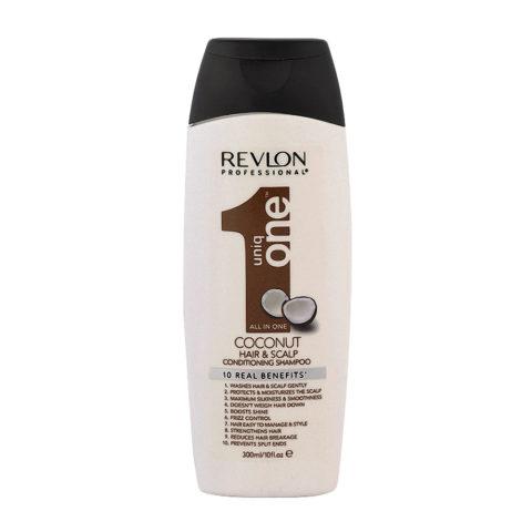 Uniq One Coconut Hair and scalp Conditioning shampoo 300ml - shampoo e balsamo