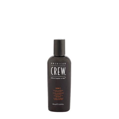 American crew Classic 3 in 1  100ml - shampoo, balsamo e bagnoschiuma