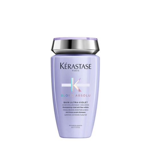Kerastase Blond Absolu Bain ultra violet 250ml - shampoo antigiallo per capelli biondi, grigi, bianchi, platino