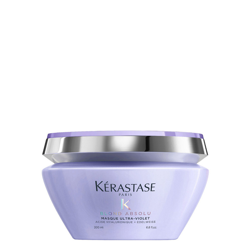 Kerastase Blond Absolu Masque Ultra Violet 200ml Maschera Antigiallo Hair Gallery