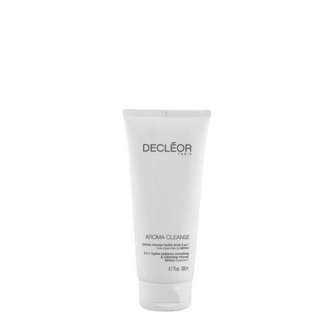 Decléor Aroma Cleanse Creme Mousse Hydra-eclat 3 en 1, 200ml - crema mousse struccante