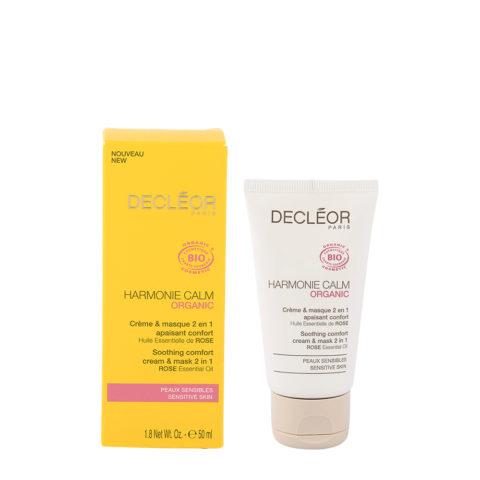 Decléor Harmonie Calm organic Creme & masque 2en1, 50ml - crema lenitiva