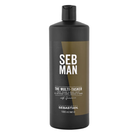 Sebastian Man The Multitasker Hair Beard & Body Wash 1000ml - Shampoo 3 in 1