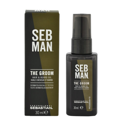 Sebastian Man The Groom Hair & Beard Oil 30ml - Olio per Barba e Capelli