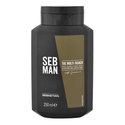 Sebastian Man The Multitasker Hair Beard & Body Wash 250ml - Shampoo 3 in 1