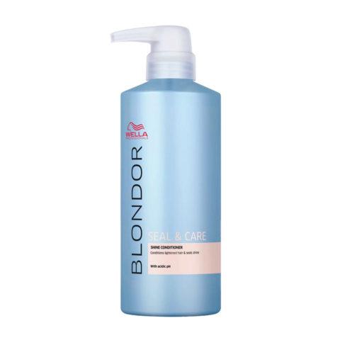 Wella Blonde Seal and Care Shine Conditioner 500ml - Balsamo Lucidante Post Decolorazione