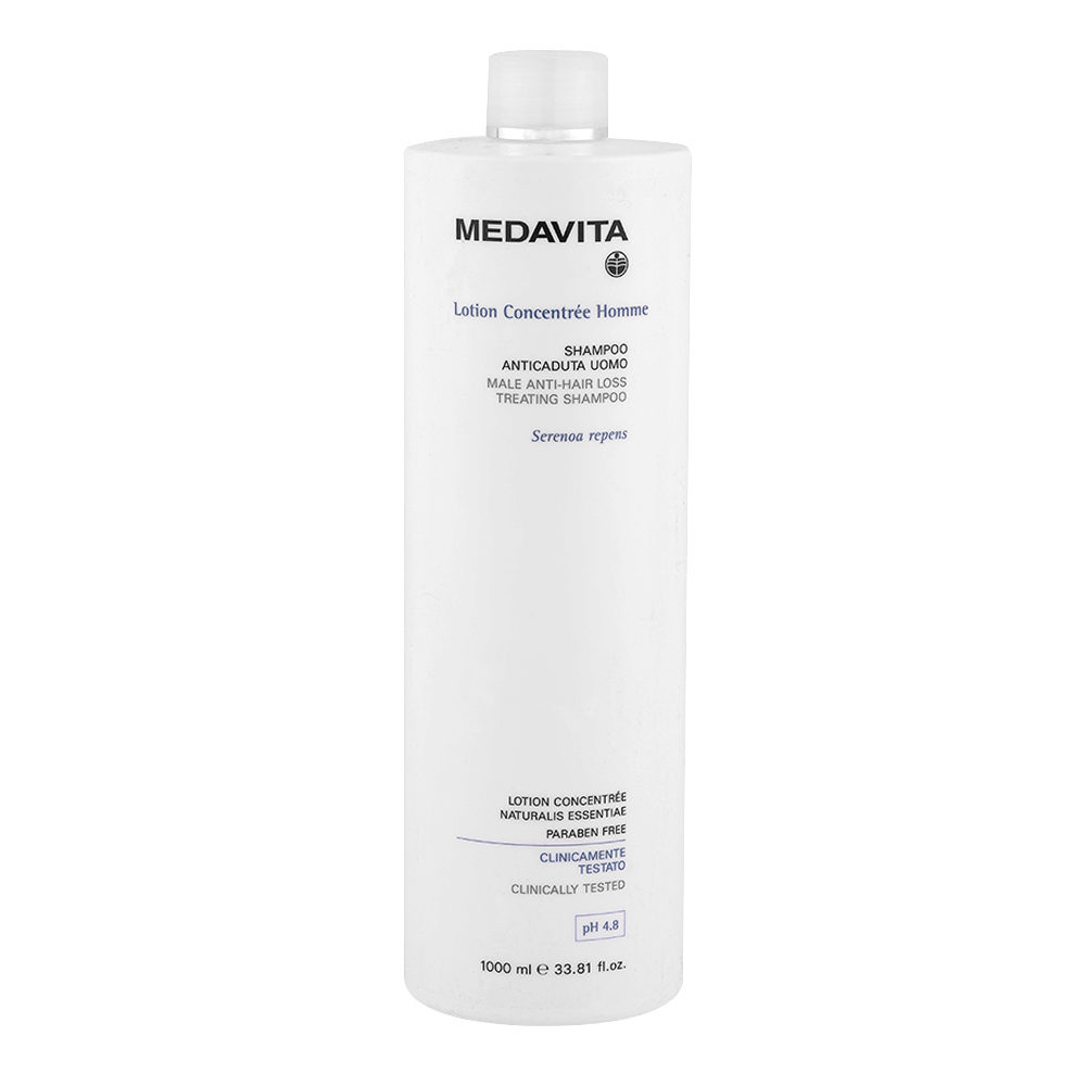 Medavita Cute Lotion concentree homme Shampoo anticaduta uomo pH 4.8  1000ml