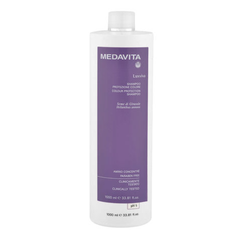 Medavita Lunghezze Luxviva Shampoo protezione colore pH 5  1000ml